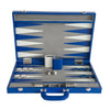 BACKGAMMON DE MESA 54x36 CROCO SHADOW AZUL ELECTRICO /  INT AZUL-BLANCO