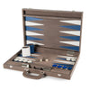BACKGAMMON GRANDE PRINT LIZARD TAUPE / INTERIOR BLANCO -  AZUL