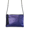 POUCH JULIA MINI PITON MORADO METALICO