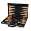BACKGAMMON GRANDE PRINT ALLIGATOR NEGRO / INTERIOR MIEL -TAUPE