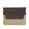 FUNDA IPAD DOBLE LONA TAUPE