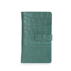 PORTAPASAPORTE MULTIPLE PRINT ALLIGATOR TEAL