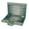 BACKGAMMON GRANDE PRINT ALLIGATOR TEAL / INTERIOR TEAL-GRIS