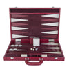 BACKGAMMON DE MESA 54X36 CROCO SHADOW CEREZA / INT HUESO-VINO