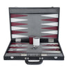 BACKGAMMON DE MESA CROCO SHADOW NEGRO / INT HUESO-VINO