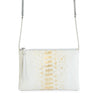 POUCH JULIA MINI PITON BLANCO ORO VERTICAL