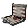 BACKGAMMON GRANDE PRINT ALLIGATOR NEGRO / INTERIOR BEIGE - VINO
