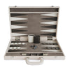 BACKGAMMON DE MESA CROC SHADOW BEIGE / INT GRIS - HUESO