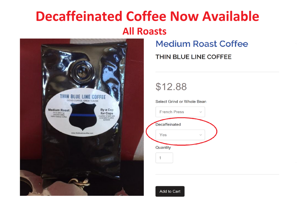 By popular request - Decaffeinated Coffee is Now Available
