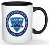 Logo mug - Shield with Black Handle