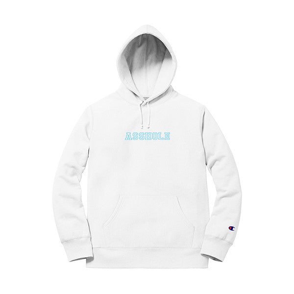 ASSHOLE HOODIE WHITE