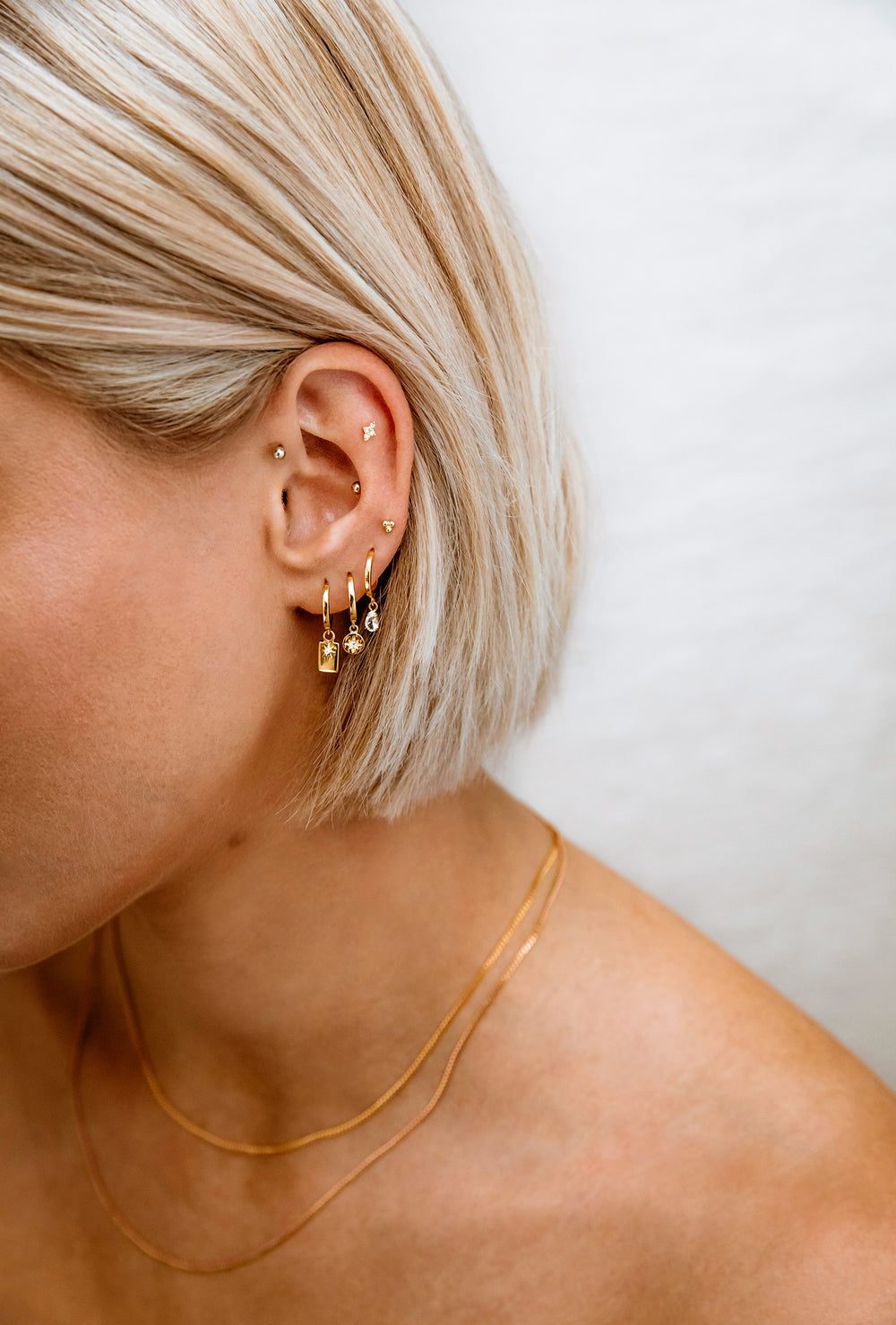 ETCHED TEARDROP HOOPS (18K-ROSE GOLD-PLATED)