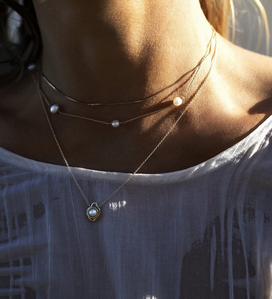 EBB AND FLOW NECKLACE (9K GOLD)