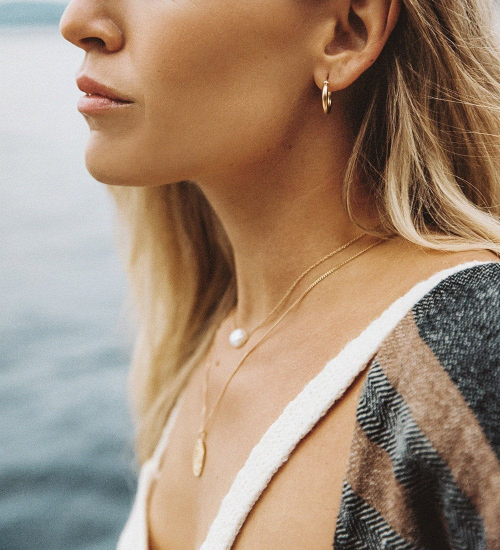 TIDAL HOOPS MEDIUM (STERLING SILVER)