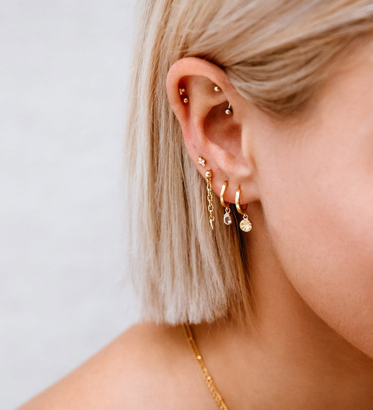 TEARDROP HOOPS (18K-ROSE GOLD-PLATED)
