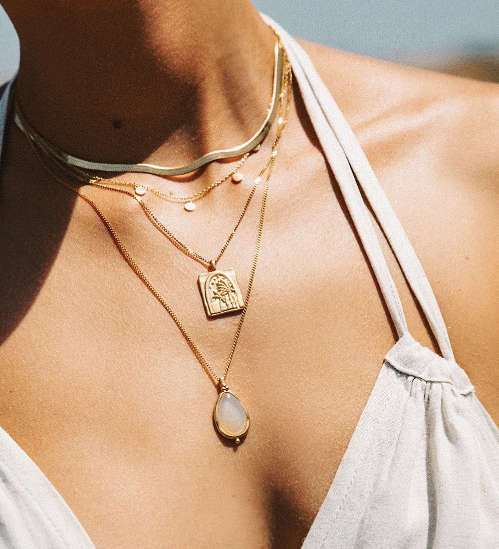 TRAVEL STORIES NECKLACE (18K-ROSE GOLD-PLATED)