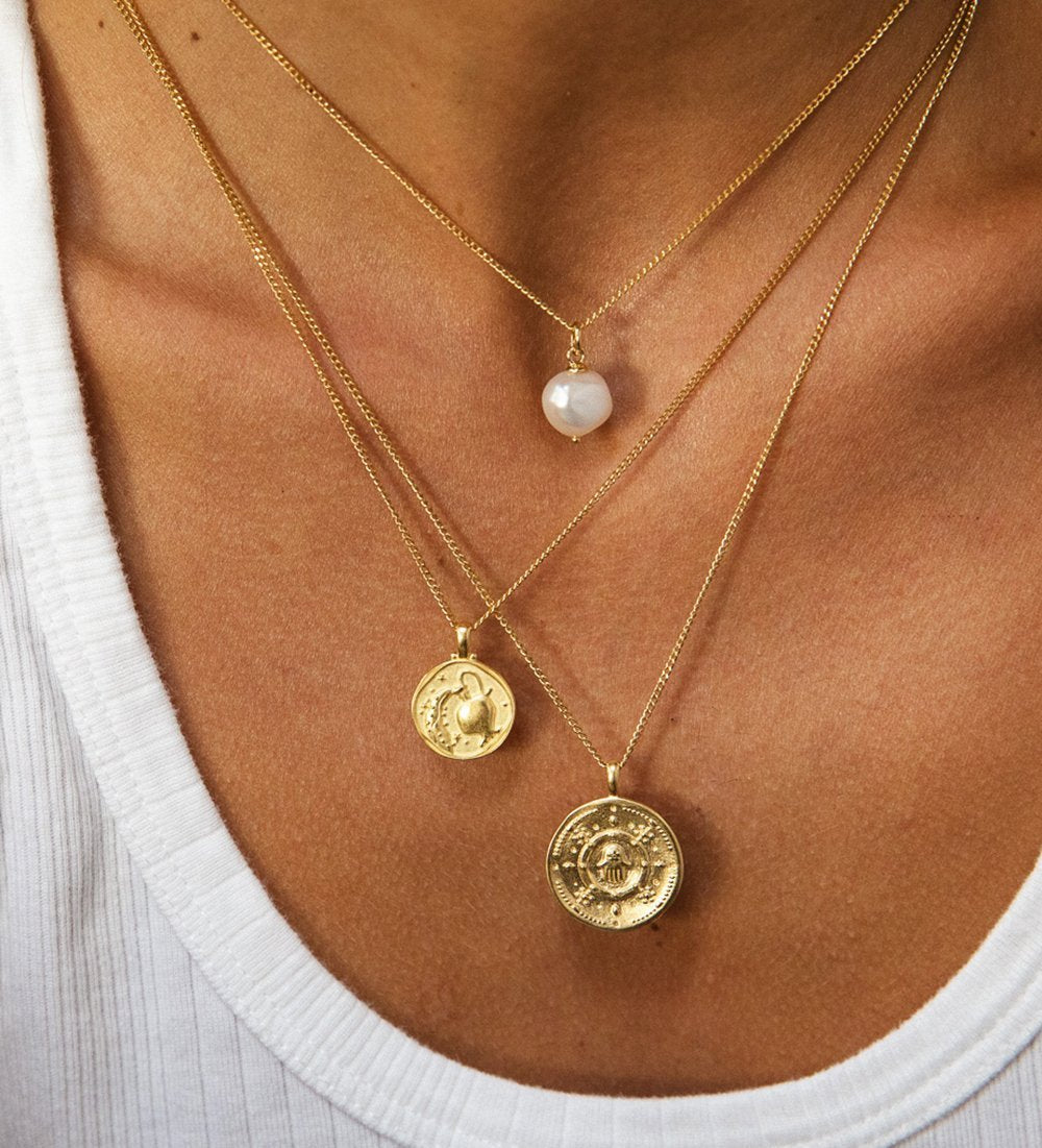 AQUARIUS ZODIAC NECKLACE (18K-GOLD-VERMEIL)