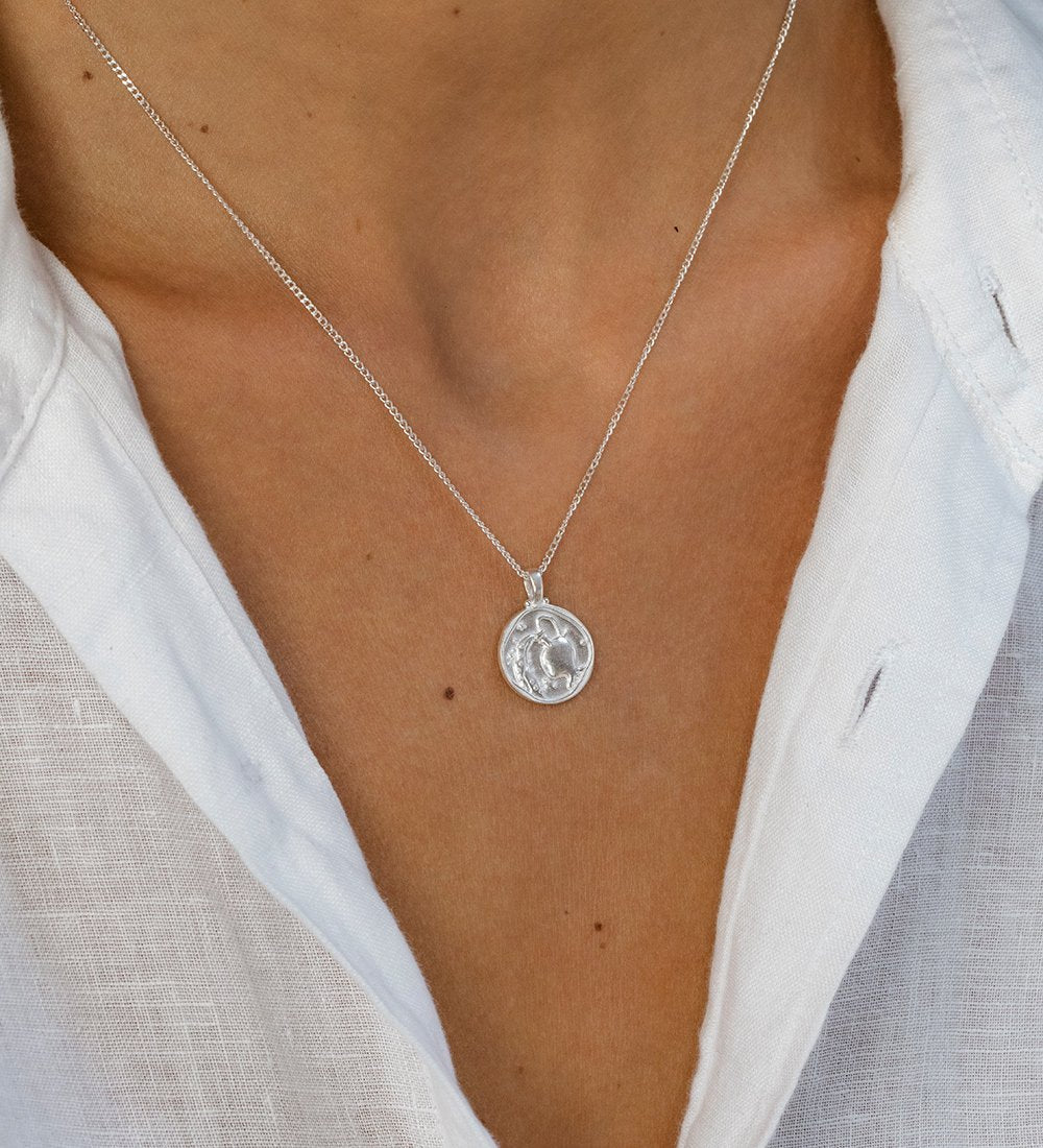 AQUARIUS ZODIAC NECKLACE (STERLING SILVER)