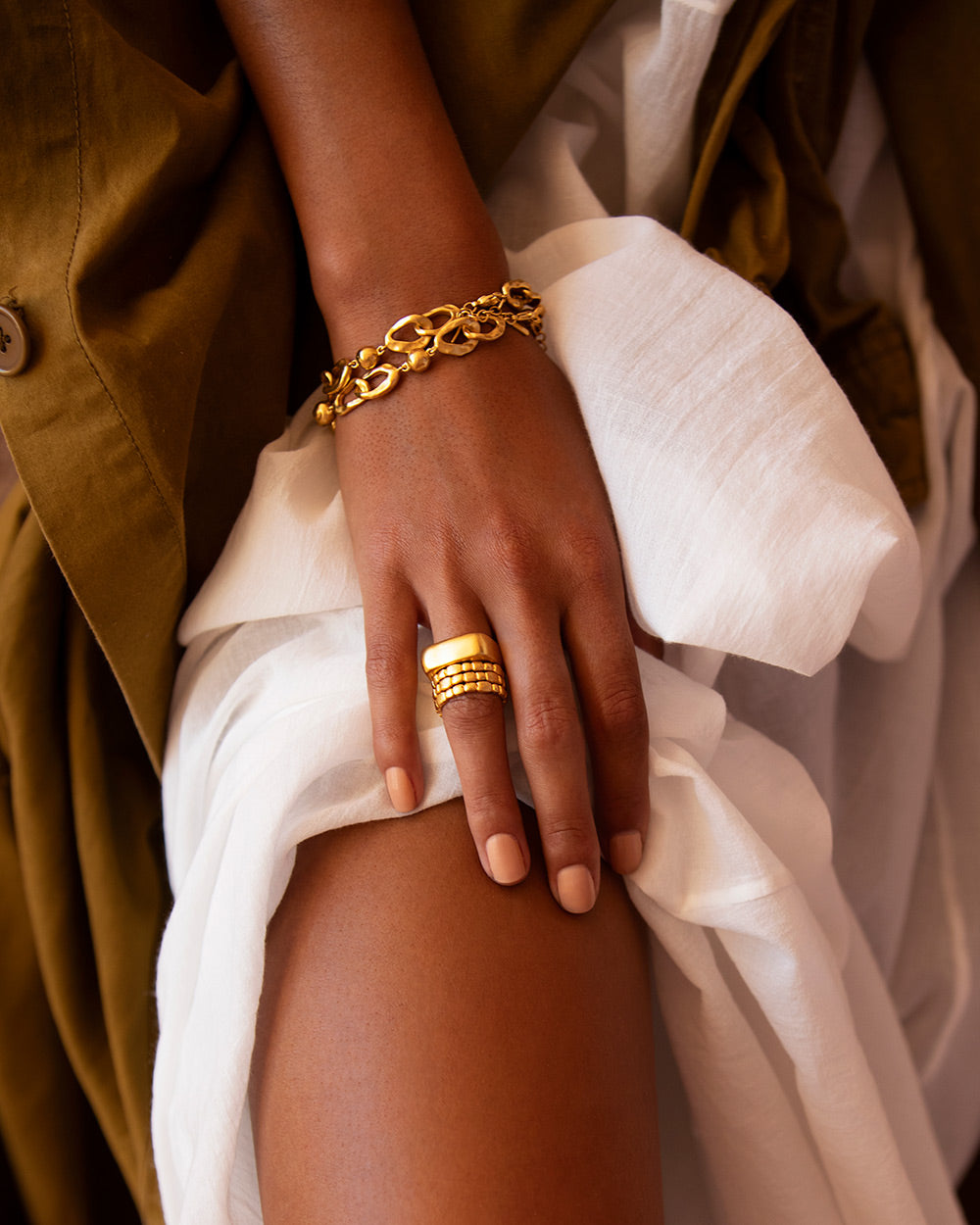 CASCADE RING (18K-GOLD-PLATED)