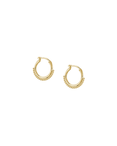 DETAIL HOOP EARRINGS (18K-GOLD-PLATED) Image 01