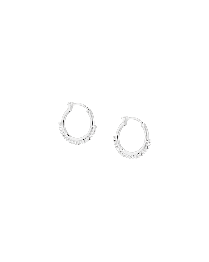 DETAIL HOOP EARRINGS (STERLING SILVER) Image 01