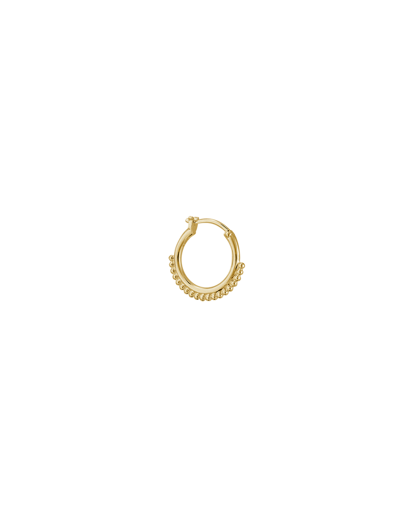 DETAIL HOOP EARRINGS (18K-GOLD-PLATED)
