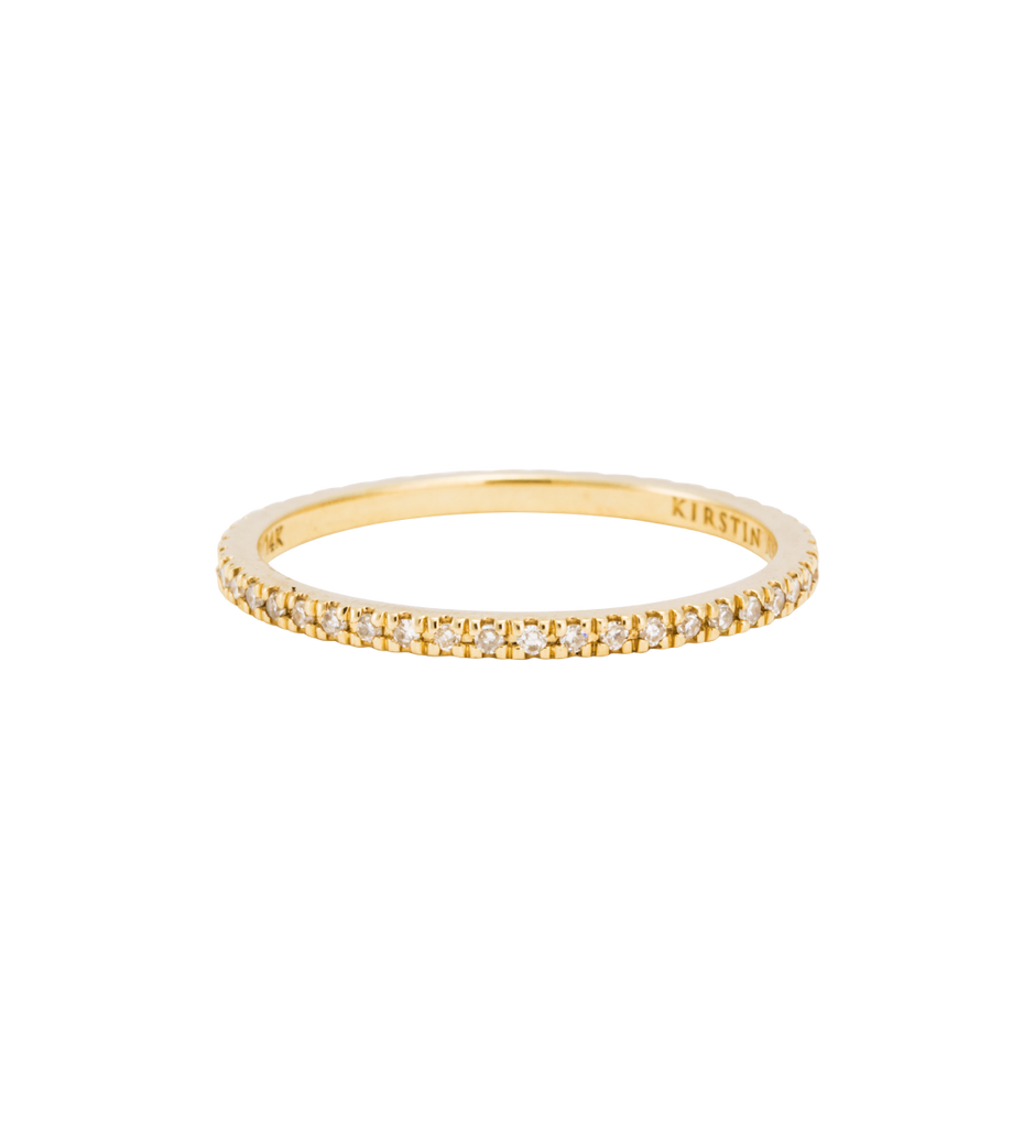 DIAMOND ETERNITY RING (14K GOLD) 01