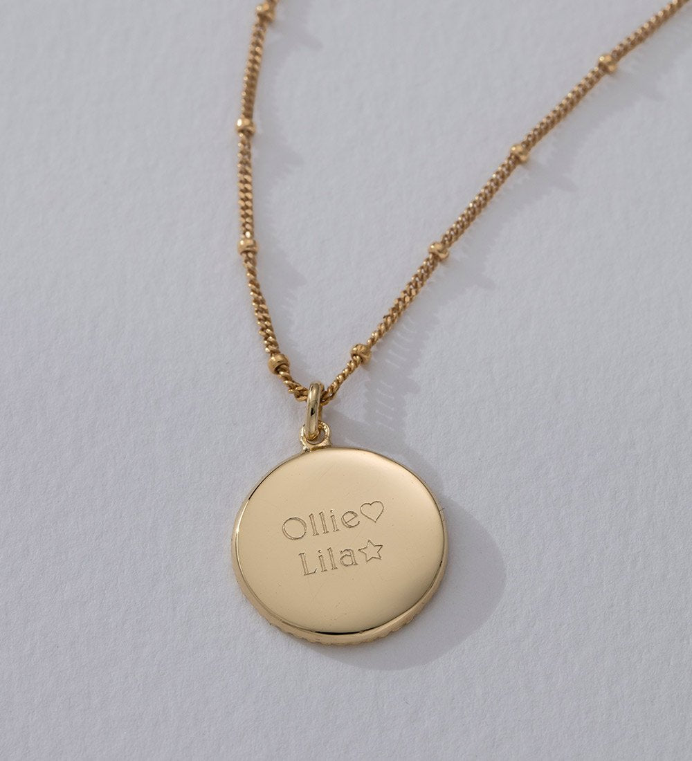 TRAVELLER COIN NECKLACE (18K-GOLD-VERMEIL)
