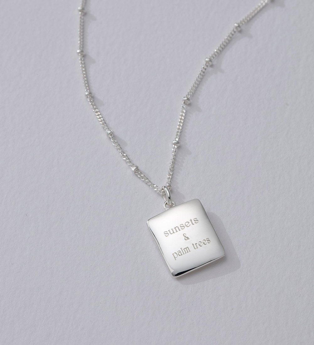 TRUE NORTH COIN NECKLACE (STERLING SILVER)