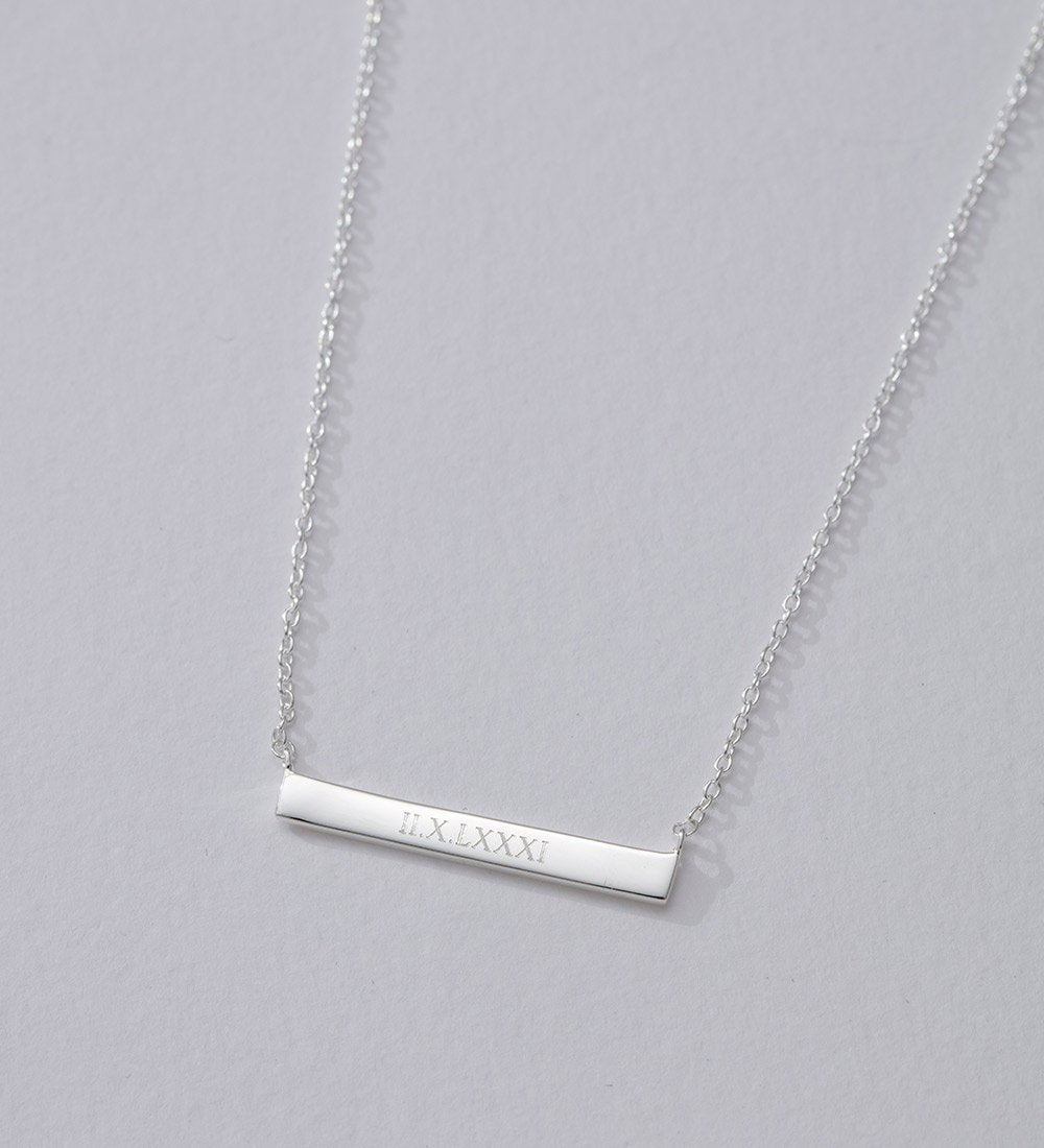 ENGRAVABLE BAR NECKLACE (STERLING SILVER)