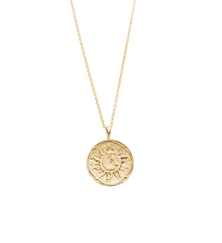 GOLDEN SUN COIN NECKLACE (18K-GOLD-PLATED)