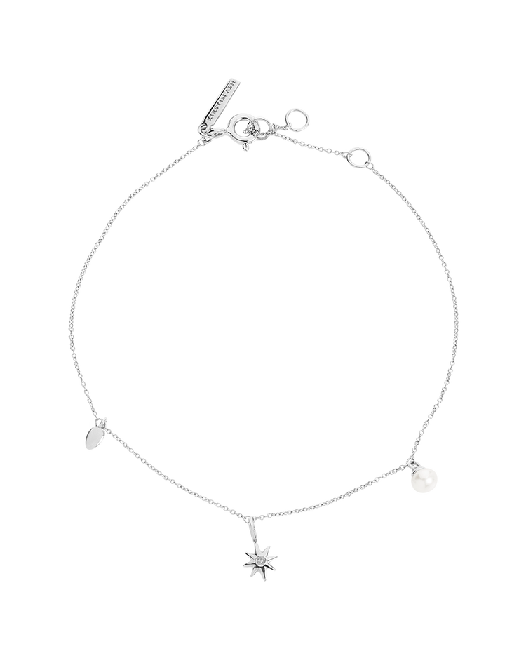 GUIDING STAR PEARL BRACELET (STERLING SILVER)