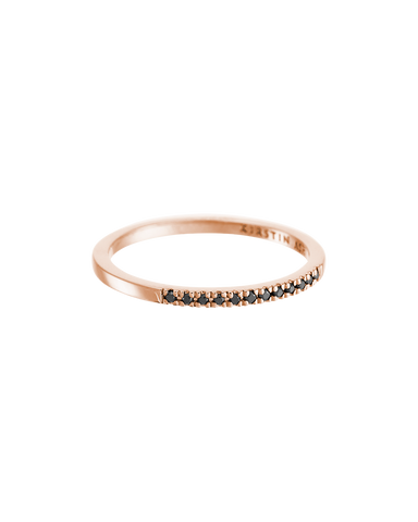 HALF BLACK DIAMOND ETERNITY RING (14K ROSE GOLD) Image 01