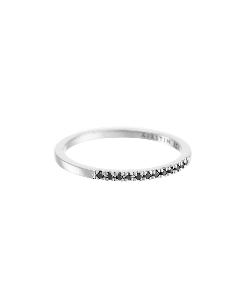 HALF BLACK DIAMOND ETERNITY RING (14K WHITE GOLD) Image 01