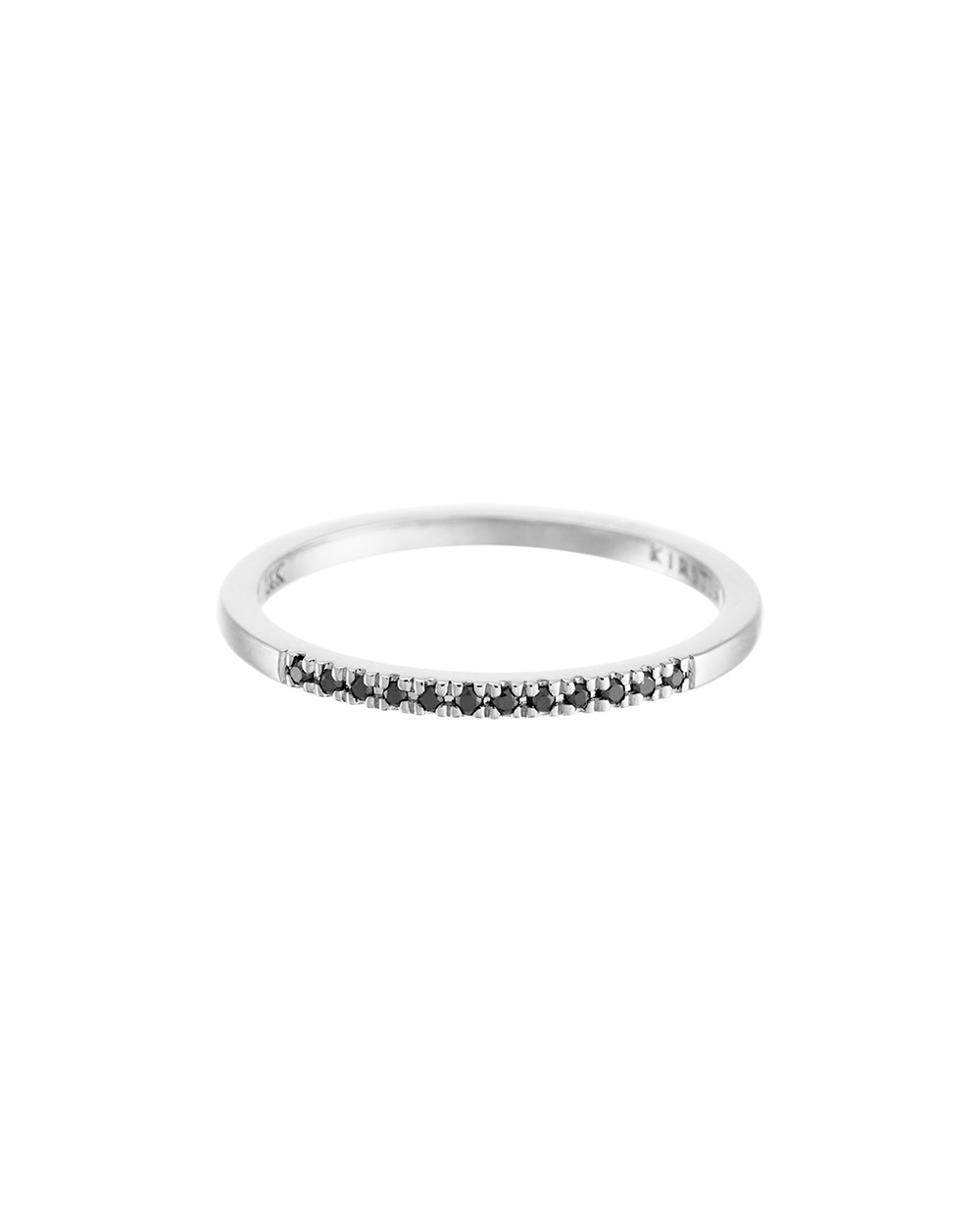 HALF BLACK DIAMOND ETERNITY RING (14K WHITE GOLD) Image 03