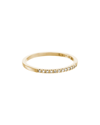 HALF DIAMOND ETERNITY RING (14K GOLD) Image 01