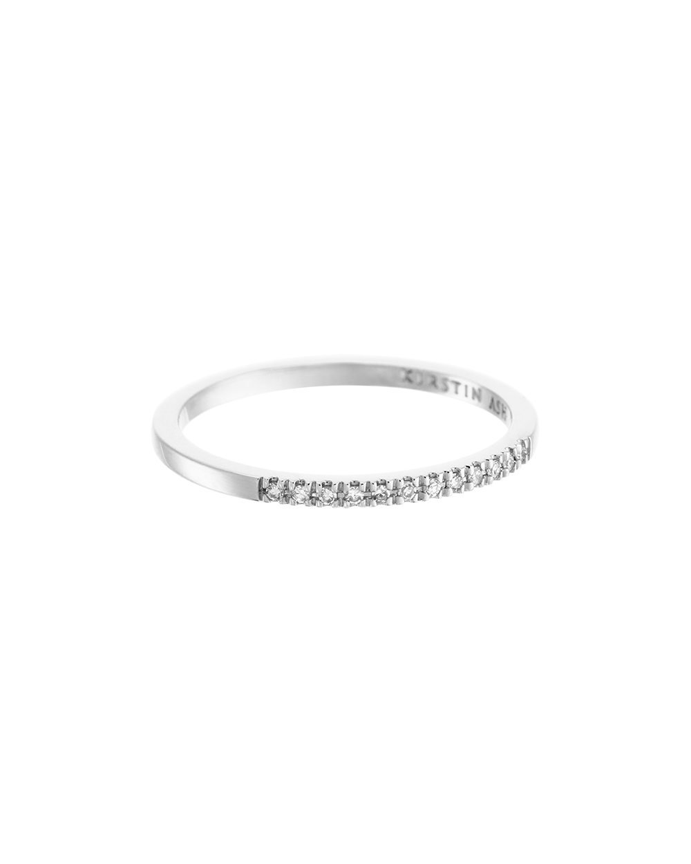 HALF DIAMOND ETERNITY RING (14K WHITE GOLD) Image 01