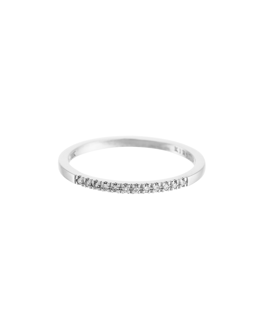 HALF DIAMOND ETERNITY RING (14K WHITE GOLD) Image 03