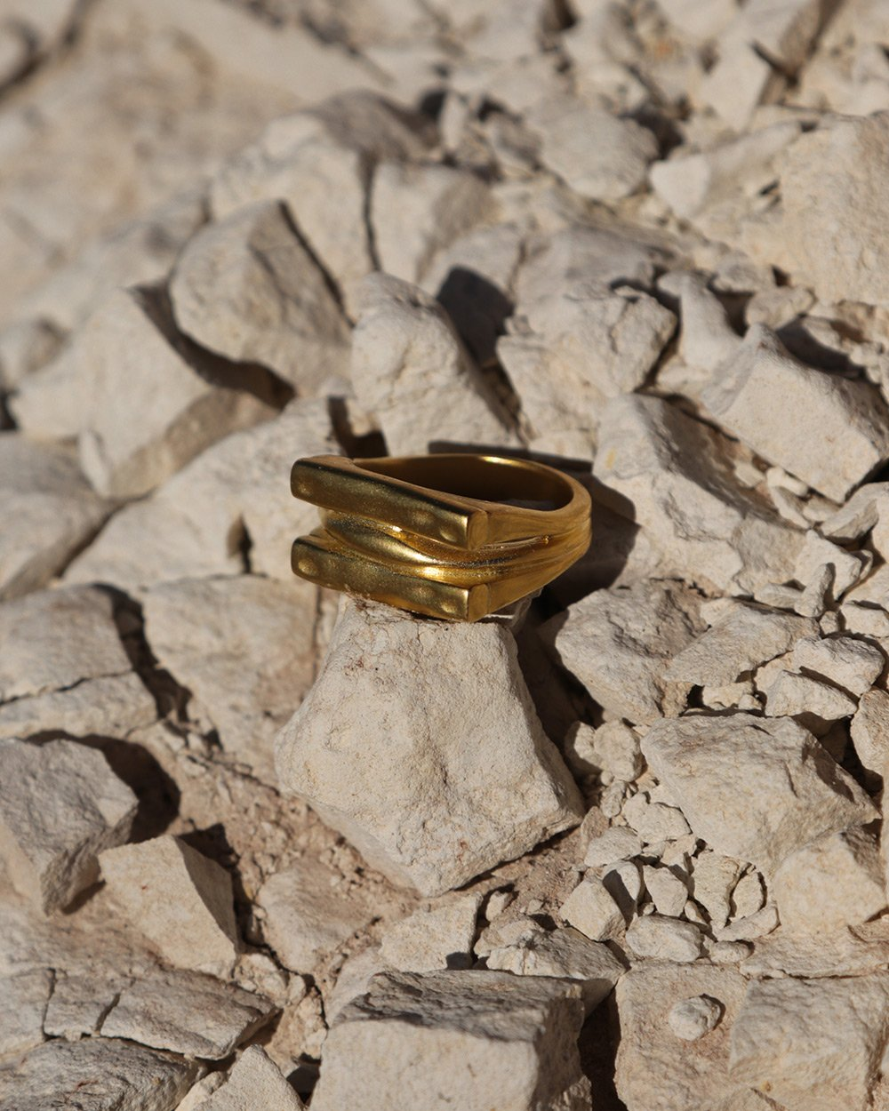 ELEMENTS RING (18K-GOLD-PLATED)