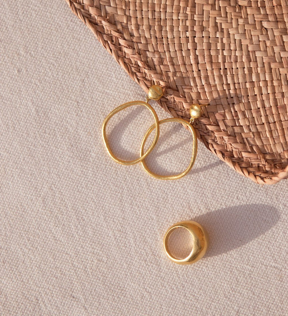 GOLDEN LIGHT EARRINGS (18K-ROSE GOLD-PLATED)
