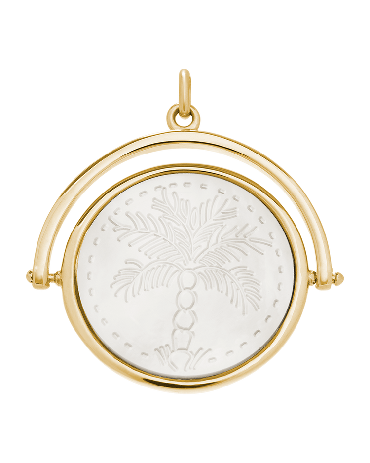 ISLAND PALM SPINNER (18K-GOLD-VERMEIL)