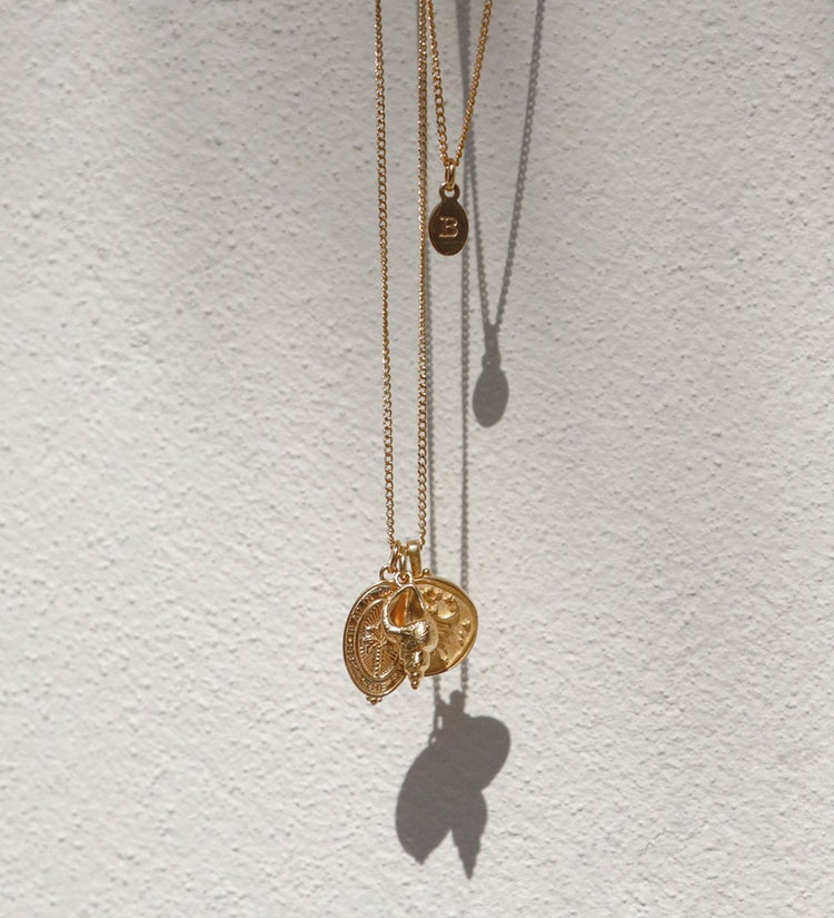 INITIAL NECKLACE A-Z (18K-GOLD-VERMEIL)