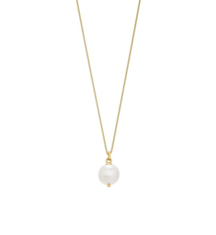 LARGE FRESHWATER PEARL NECKLACE (18K-GOLD-VERMEIL)