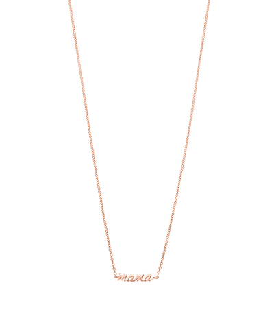 MAMA NECKLACE (18K-ROSE GOLD-PLATED) Product Image 01