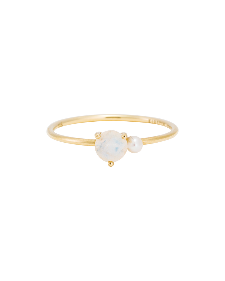 MOONSTONE PEARL RING (14K GOLD) Image 03