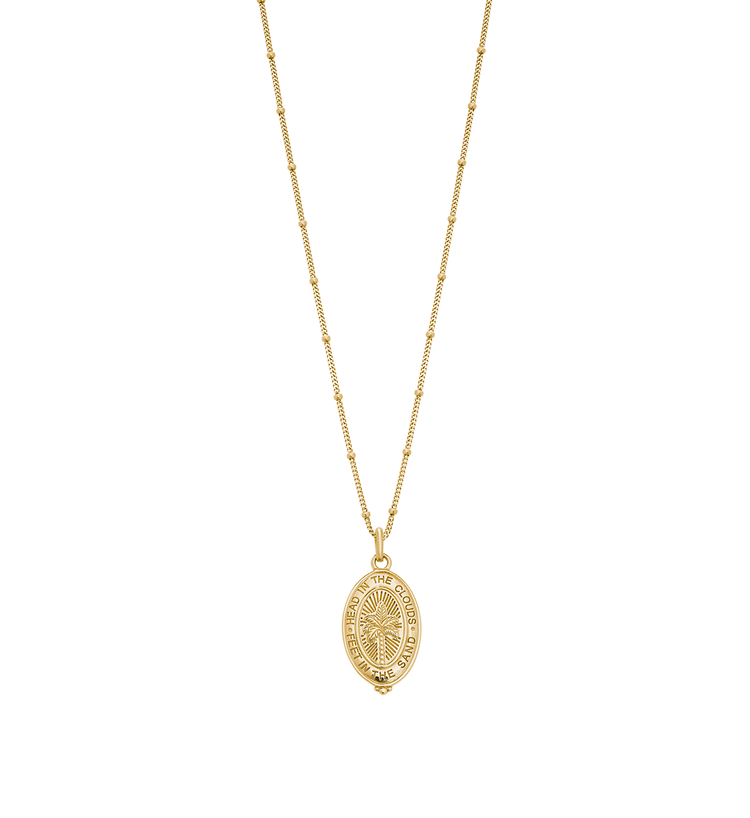 PALM COIN NECKLACE (18K-GOLD-VERMEIL)