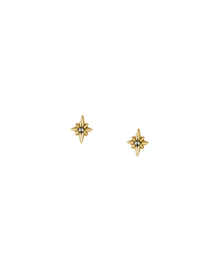 POINTED STAR STUDS (18K-GOLD-PLATED) Image 01