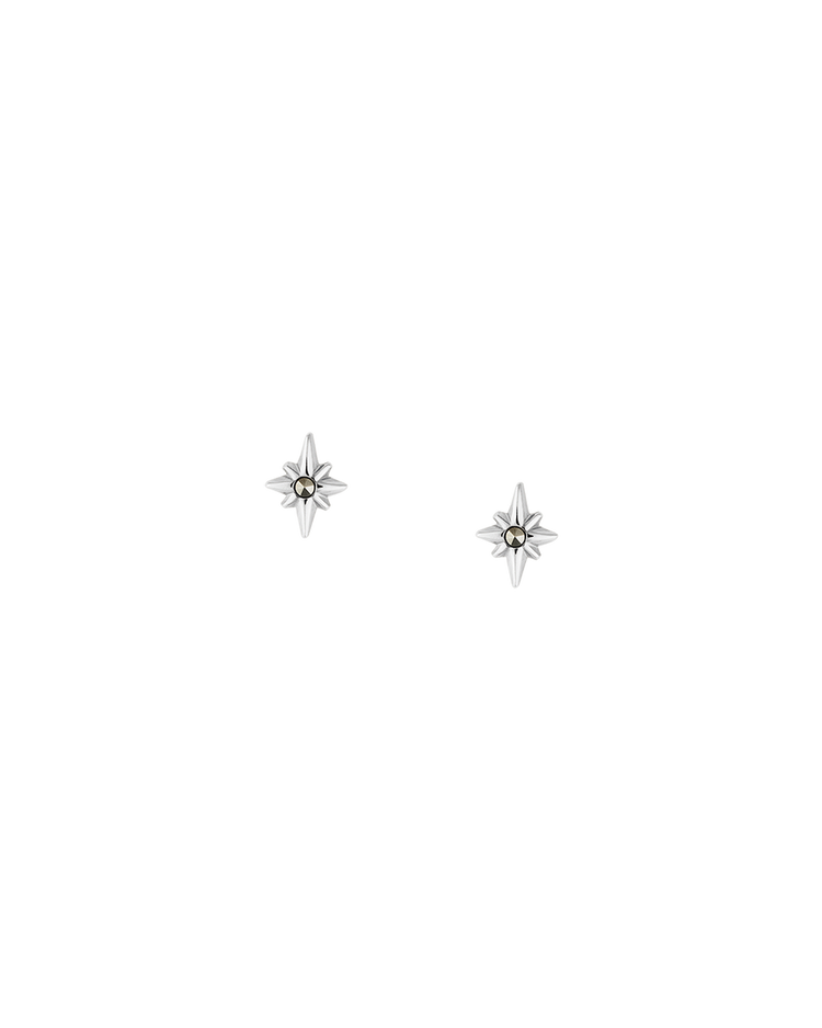 POINTED STAR STUDS (STERLING SILVER) Image 01