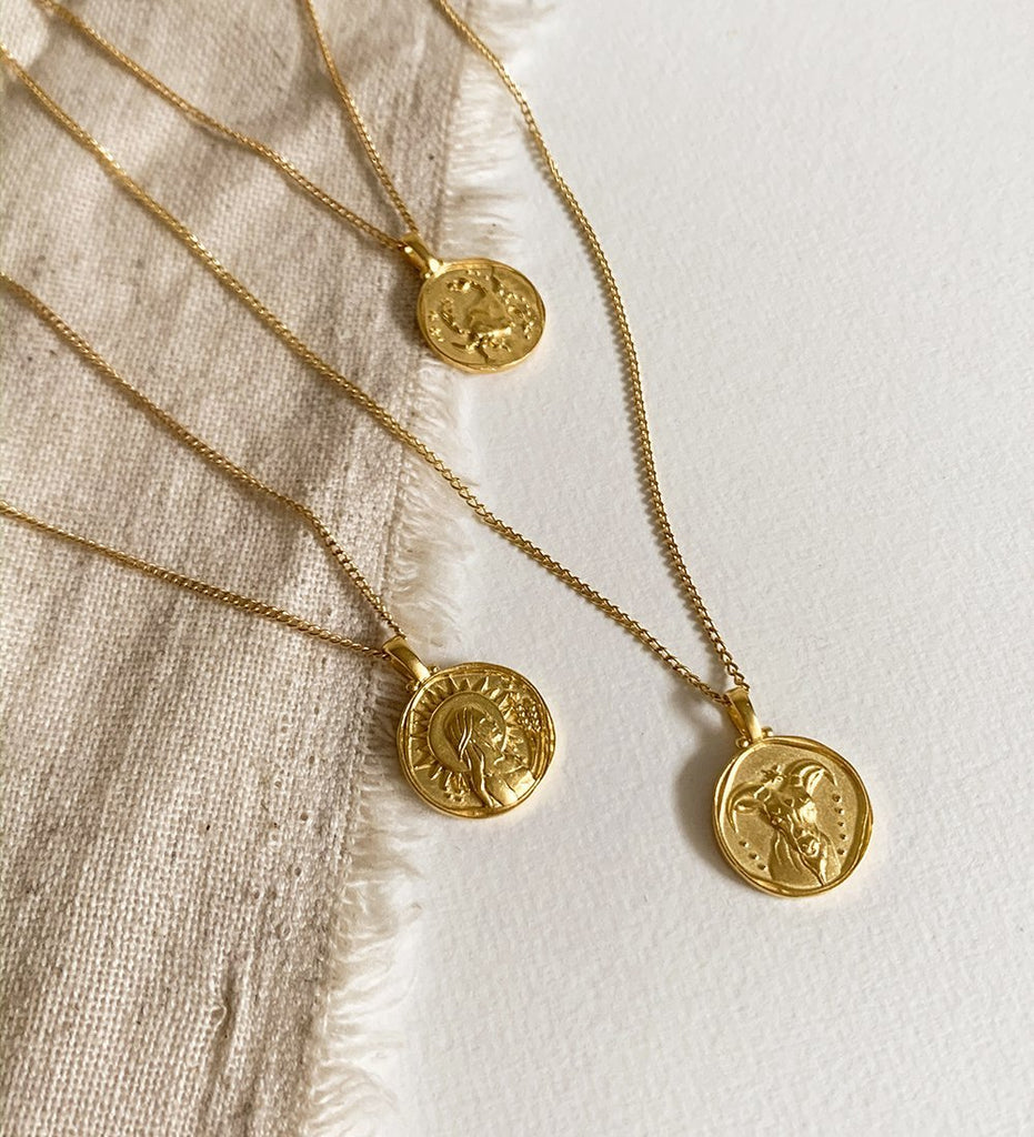 CAPRICORN ZODIAC NECKLACE (18K-GOLD-VERMEIL)
