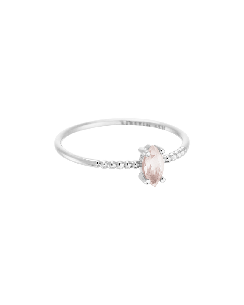 ROSE QUARTZ MARQUISE RING (STERLING SILVER) 01